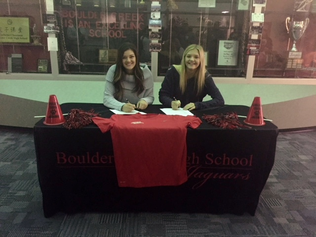 Congratulations Robbi Ann Hostetler and Hayden Nielsen for signing with Mesa Community College