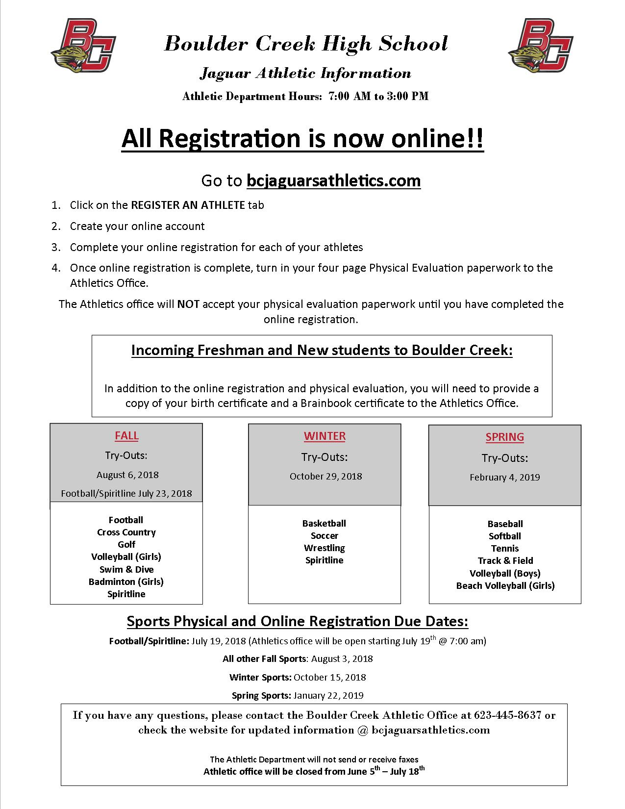 Register Your Athlete Online!