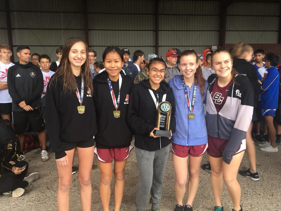 Girls Varsity Cross Country places 1st at the O'Connor Invitational