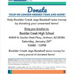 Baseball Donation Drive