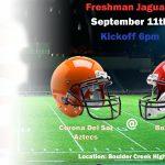 Freshman Football HOME This Wednesday!