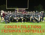 Congratulations to Freshman Football on a great season