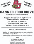 Join with Football and Spiritline to help Foothills Food Bank