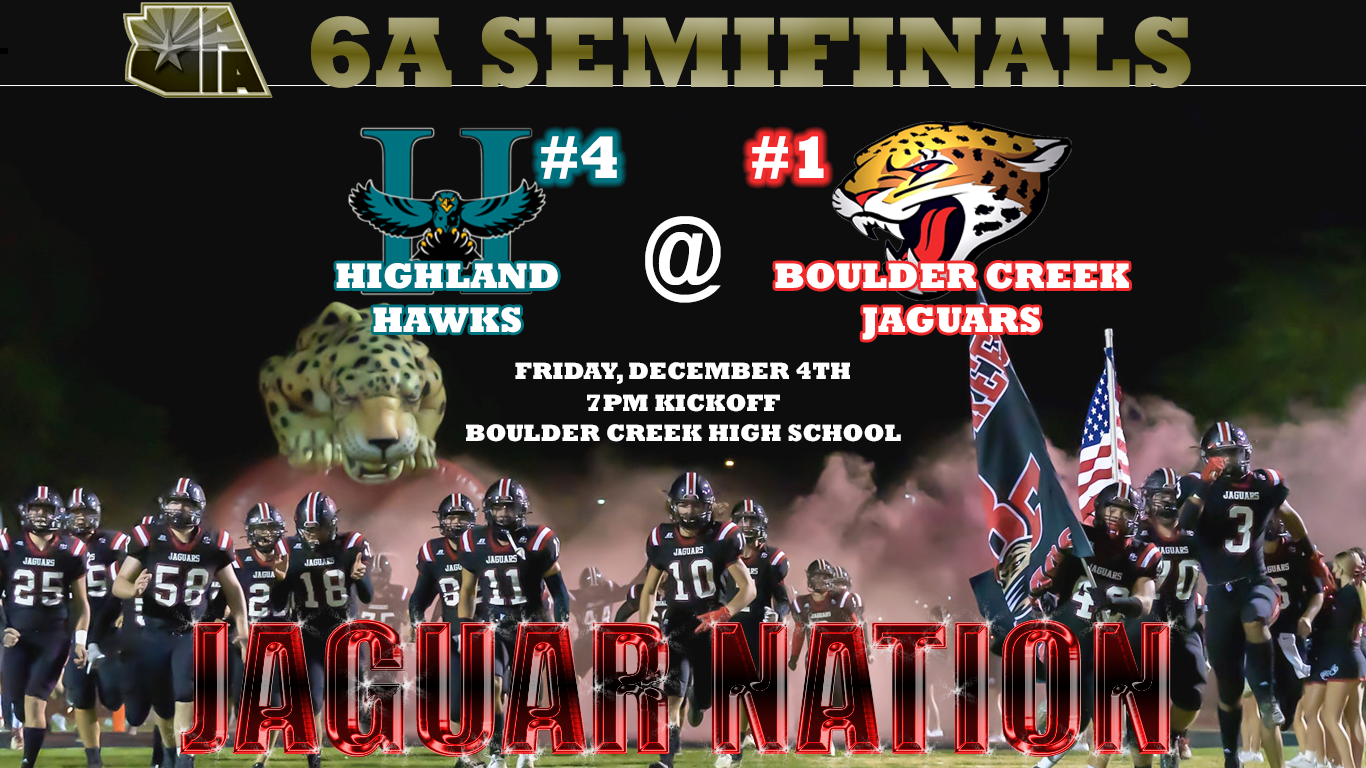 6A Semifinals are happening Friday night, lets go Jags!