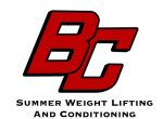 2021 Summer Weight Lifting and Conditioning for 10th-12th Graders.