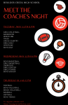 Meet the Coaches Night Thursday, May 13th 6 p.m.