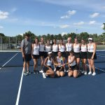 Girls Varsity B Tennis finishes 1st place at Midview Doubles Tournament