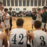 inside the boy's basketball team's huddle
