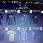Arete Prep baseball merch