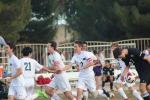 Soccer boys cheering