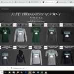 Arete Prep Athletics merch