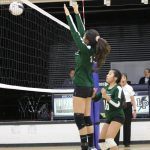 volleyball girl blocks