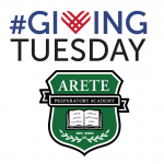 #giving tuesday arete prep banner