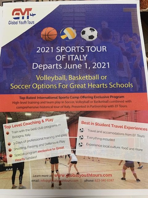 Tour Italy With Great Hearts Athletics!