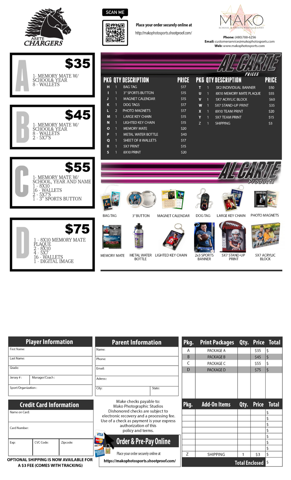 Fall Sports Pictures- Begin 10/29, Order Form Attached