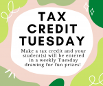 Tax Credit Tuesdays are Back-Win Prizes!