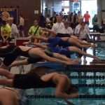 Blue Streaks Advance In Five Events At State Swim Meet