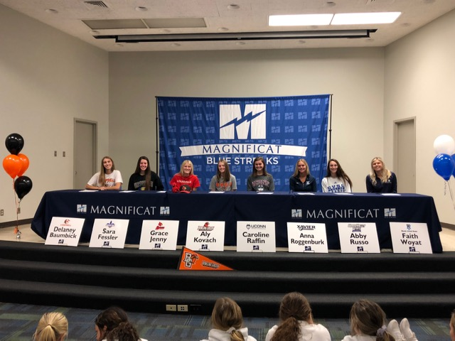 8 Blue Streaks Sign NCAA College Letters Of Commitment