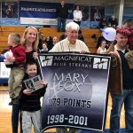 Mary Fox Fischer '01 Honored As Blue Streaks' All-Time Leading Scorer In Basketball