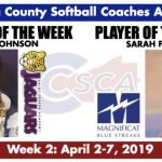 Sara Fessler Named Player of the Week