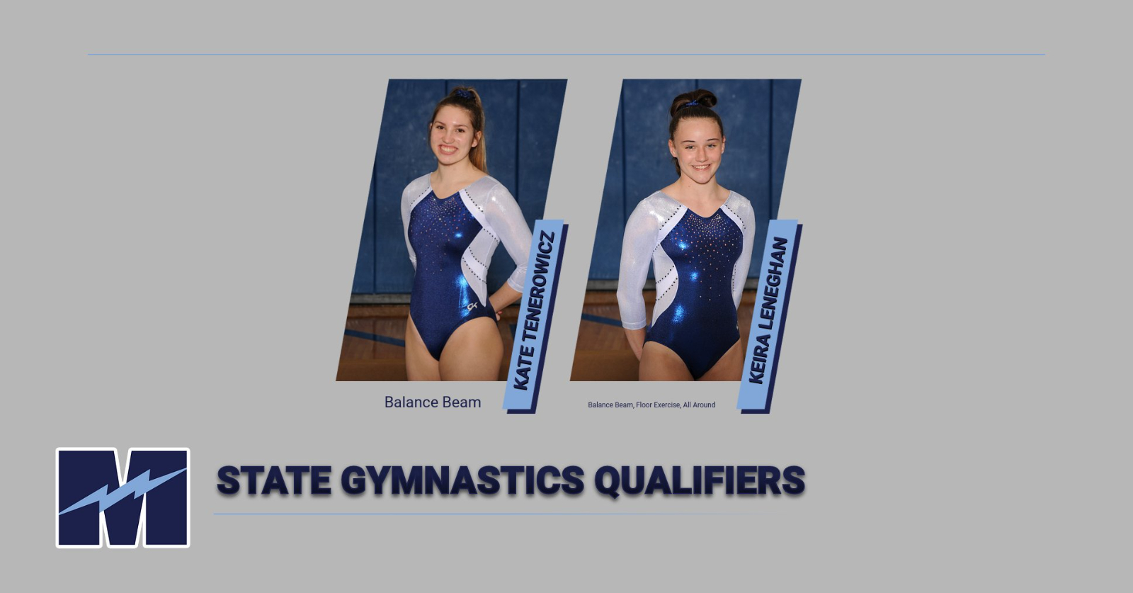 Leneghan & Tenerowicz Finish Strong At State Gymnastics Meet