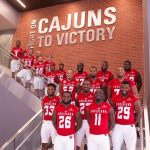 "TJ WORTHY PLAYS HIS LAST GAME AS A ""CAJUN"""