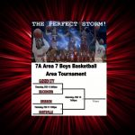 BOYS BASKETBALL AREA TOURNAMENT SCHEDULE POSTED