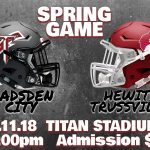 TITAN SPRING JAMBOREE GAME vs. HEWITT TRUSSVILLE…BE THERE!