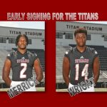 Merrick and Wright committed during early signing period