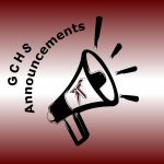 GCHS SCHOOL ANNOUNCEMENTS for February 20th