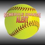 Titan Softball Scheduling Updates for Saturday, 3-13-2020