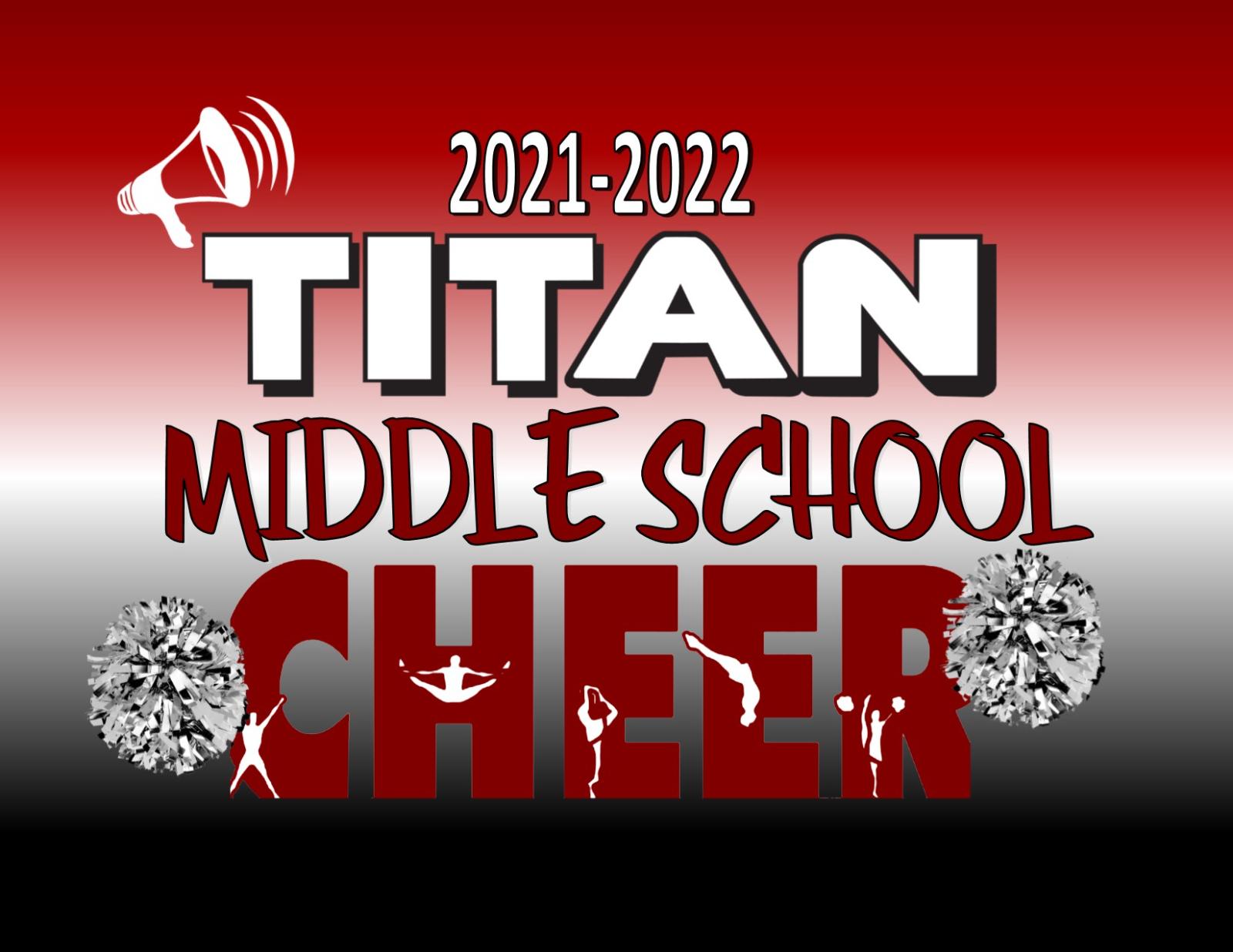 ANNOUNCING THE 2021 TITAN MIDDLE SCHOOL CHEERLEADERS