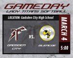 Titan Softball TODAY, 3-4-21 ~ Home vs. Glencoe