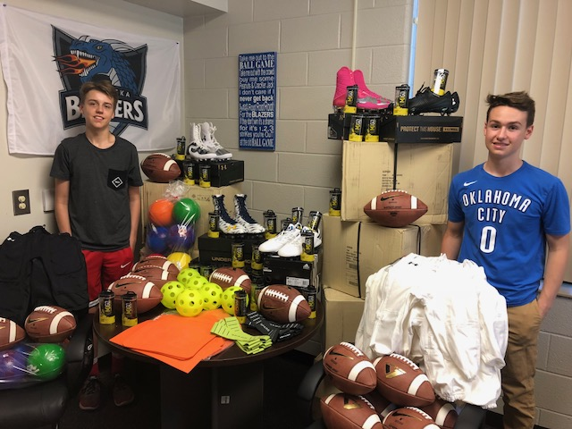 Middle School Students Awarded Athletic Equipment Grant