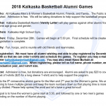 Kalkaska Basketball Aumni Game Details