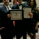 Caleb Franzen receives award from the National Football Foundation