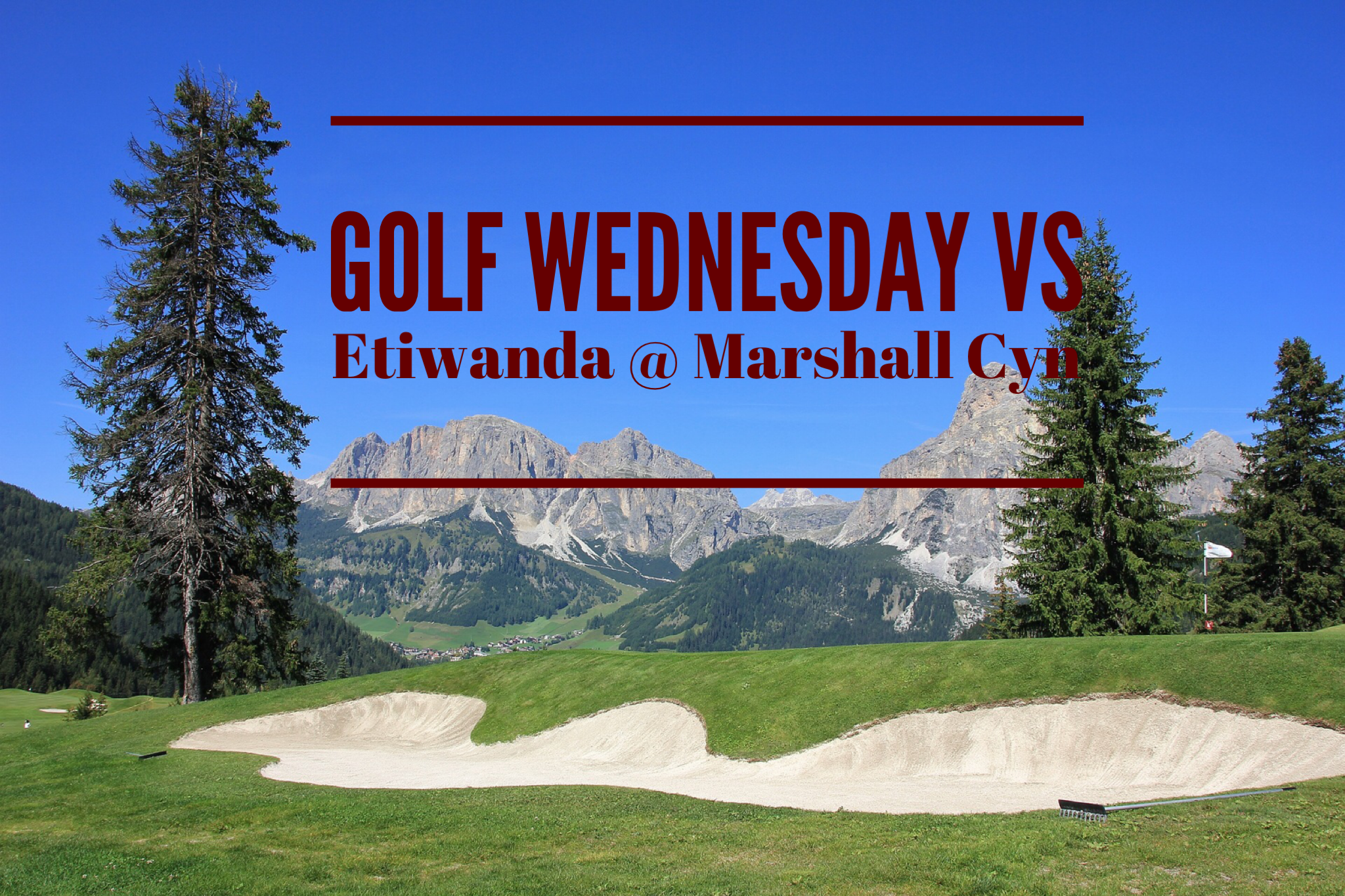 Golf Today vs Etiwanda @ Marshall Cyn.