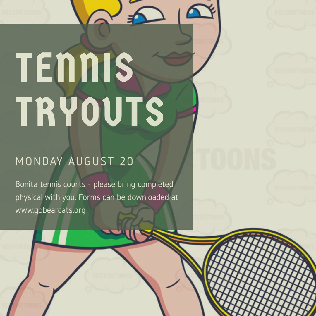 Girls Tennis Try-Outs Coming Monday After School
