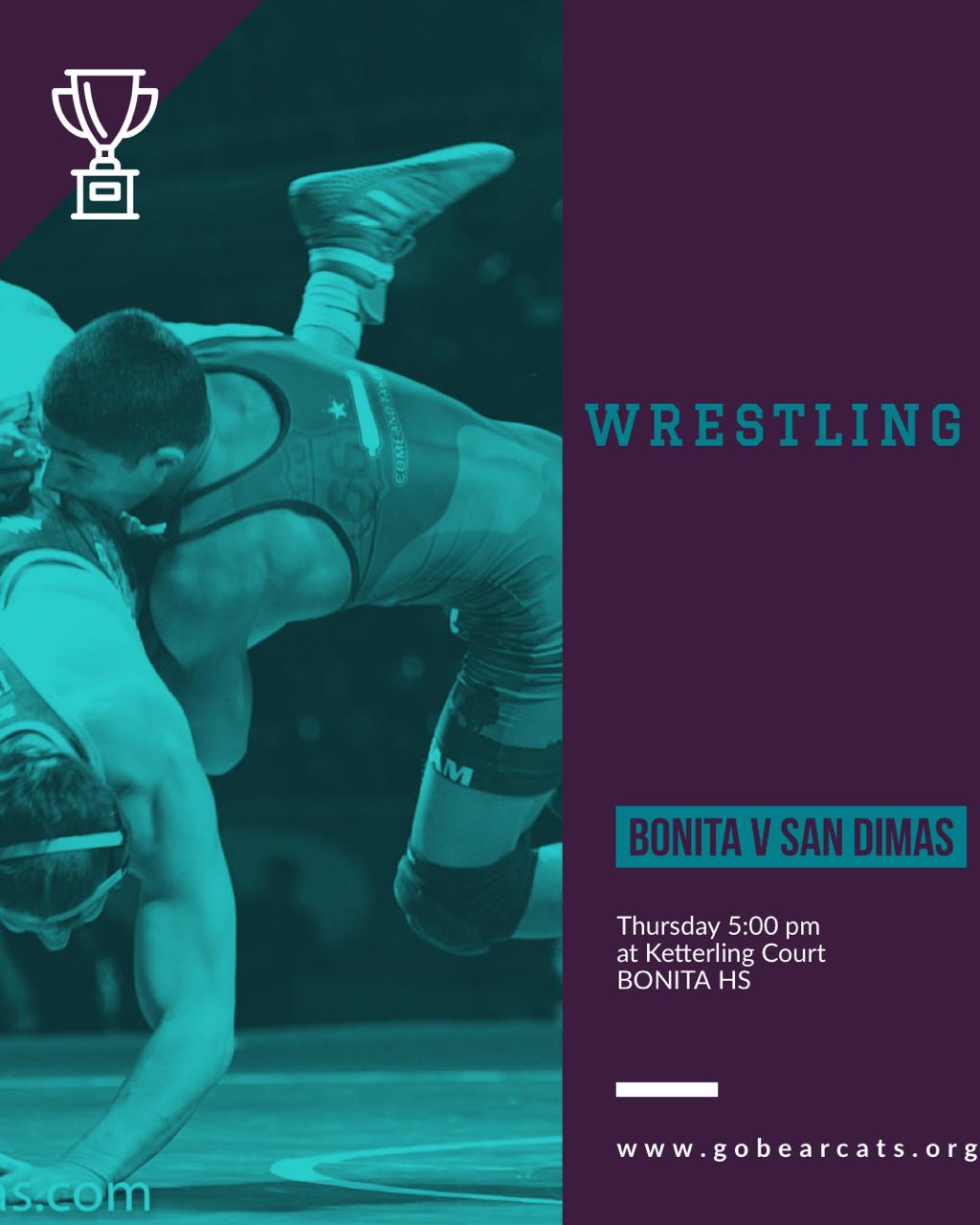 Wrestling vs San Dimas – Home Thursday 5:00pm – The Railroad Tie