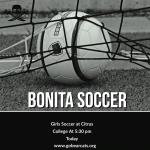 Girls Soccer Today at Citrus College 5:30 pm
