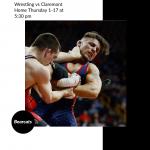 Wrestling Thursday vs Claremont @ Home