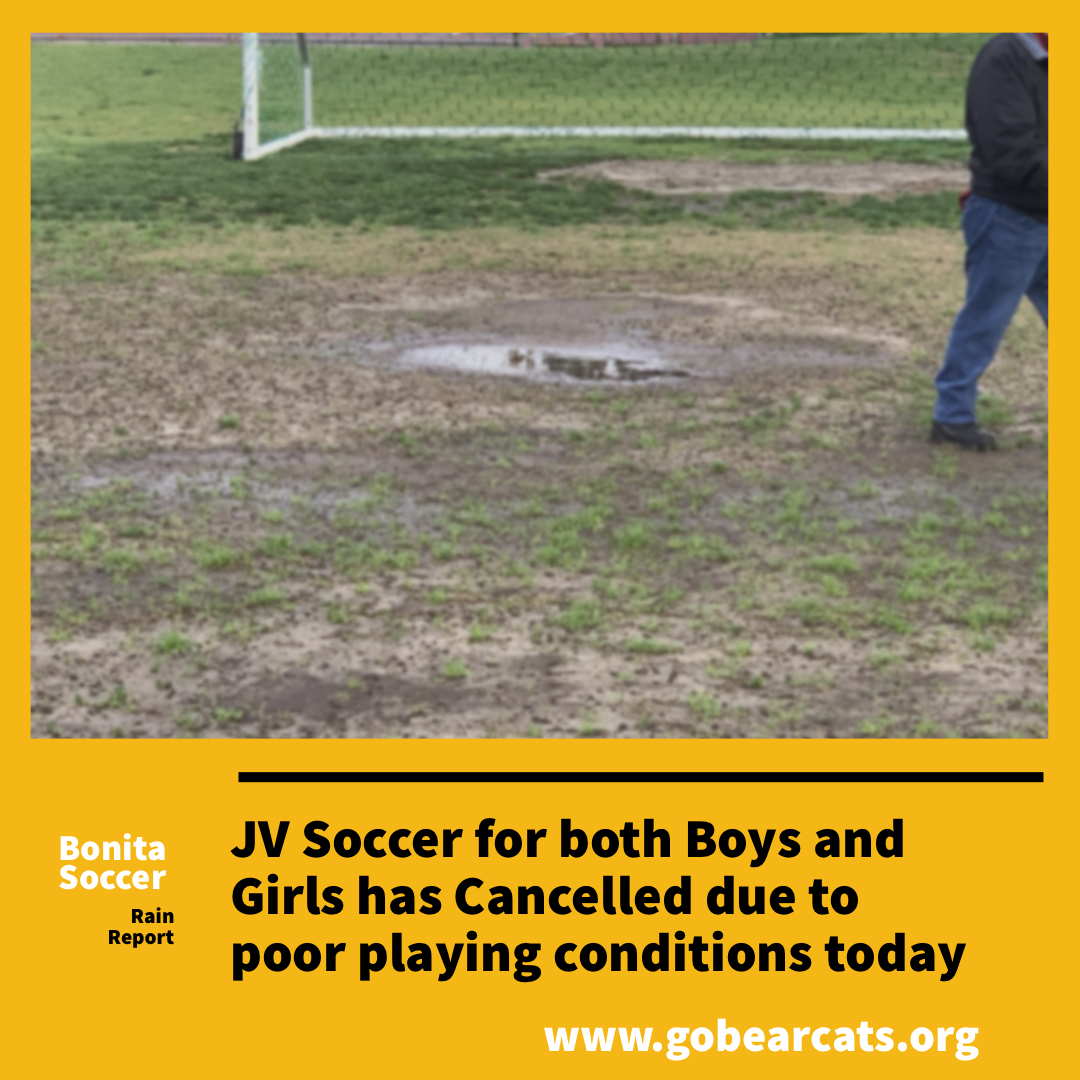 JV Soccer Games Cancelled for Today – Varsity and F/S Games Still On!