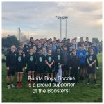 Boys Soccer team is rewarded by Boosters!