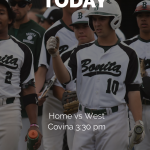 Baseball Today vs West Co – Home 3:30 pm
