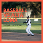 Baseball Today vs Alta Loma – Rain Out Declared