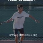 Boys Tennis at Colony Thursday