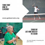 Tennis Home Today vs Claremont – Senior Day!