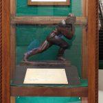 Glenn Davis Heisman Trophy Gets New Display in Bonita Administrative Offices