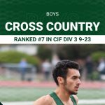 Boys Cross Country Ranked #7 in Division 3 this Week
