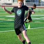 Boys and Girls Soccer Practice
